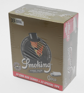 Bibułka Smoking GOLD + tips BOX 24