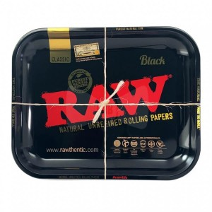 Tacka metalowa RAW BLACK 34 cm x27,5 cm