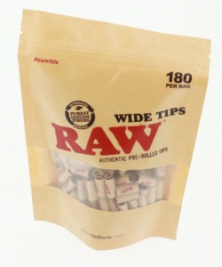 Filterki RAW WIDE Prerolled Tips 180szt