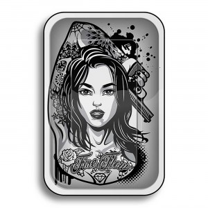 Tacka metalowa Tattoo Girl 27,5x17,5cm