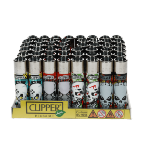 Zapalniczka CLIPPER Skullo BOX48