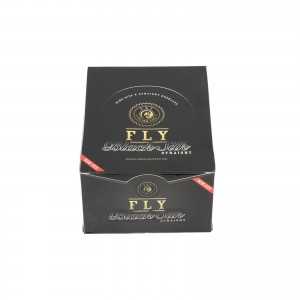 Filterki FLY black silk Straight BIG SIZE BOX 50